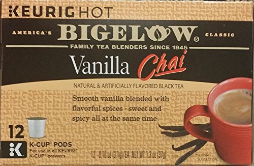 Bigelow Vanilla Chai Black Tea K-Cups 12 ct