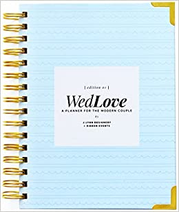 WedLove Wedding Planner All In One Modern Engagement Timeline Get Inspired Guide Notebook Amazon Books