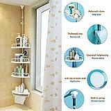 corner shower caddy plastic - Alice Adjust Corner Shower Caddy Bathroom Constant Tension Pole Rustproof Rack