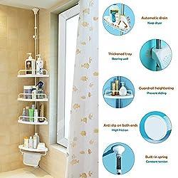 Alice Adjust Corner Shower Caddy Bathroom Constant Tension...