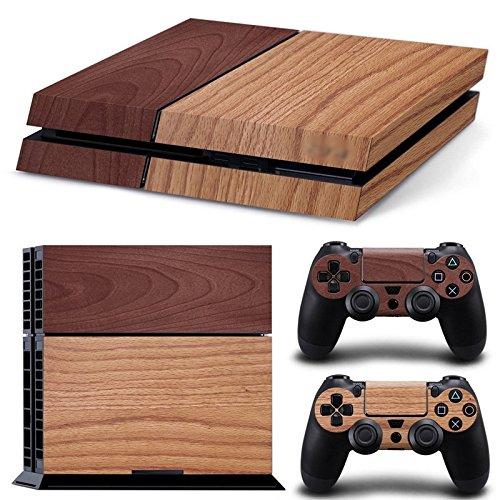 GoldenDeal PS4 Console and DualShock 4 Controller Skin Set - Wooden Wood Design - PlayStation 4 Vinyl (Ps4 Wood Grain Skins)
