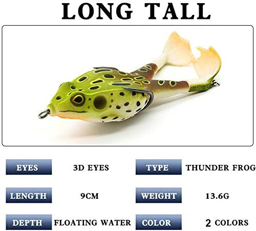 9cm Large Frog  Double Propellers Frogs Soft Bait Soft Silicone Fishing Lures