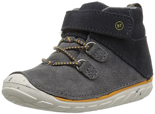 Stride Rite Boys' Soft Motion Oliver Ankle Boot, Grey, 4.5 Medium US Toddler