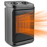 Space Heater, 70° Rotating with Thermostat for Personal Space Home Bedroom Office Under