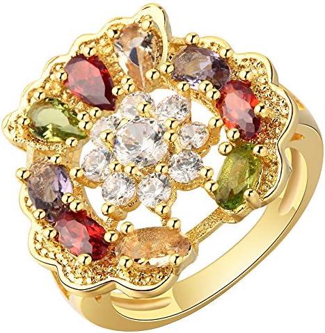 可愛い リング レディース ジルコニア 指輪 ゴールド アクセサリー 豪華 米国9号