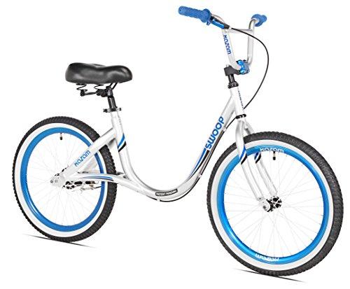 KaZAM Swoop Balance Bike, 20', Without backrest, Silver/Blue