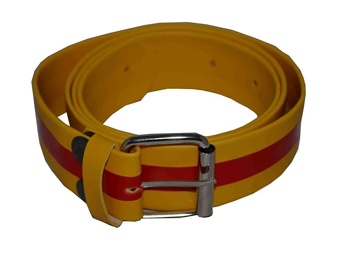 Flosay Snap on Belt Yellow Red