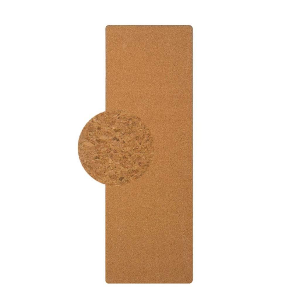 SHJICH Natürliche Kork-Yoga-Matte 5mm Rutschfest doppelseitig antimikrobiell Frei von PVC und Anderen schädlichen Chemikalien für Yoga Hot Yoga und Pilates