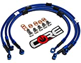 Core Moto - Suzuki GSXR600 / 750 2011-2015 Performance Brake lines Front and Rear Combo - Translucent Blue