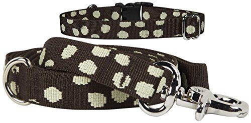 Waggo Speck-tacular Leash - Charcoal - Medium - 6 ft x 5/8 inch