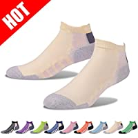 Running Cushion Socks, Gmall Men's Athletic Single Tab Performance Low Cut Socks
