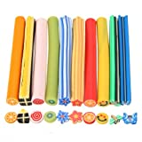 100PCS 3D DIY Nail Art Mp3 Phone Fimo Canes Rods Sticker Tips Decoration Blade