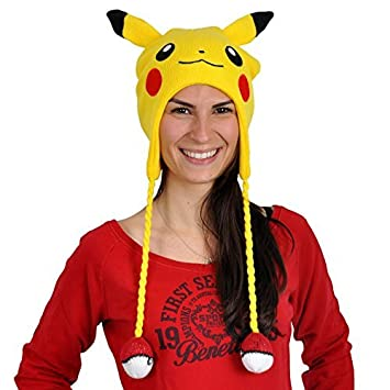 06f2dfed072 TeeShirtPalace Pokemon Pikachu Big Face Laplander Beanie Winter Hat Yellow  One Size by Bioworld  Amazon.co.uk  Toys   Games