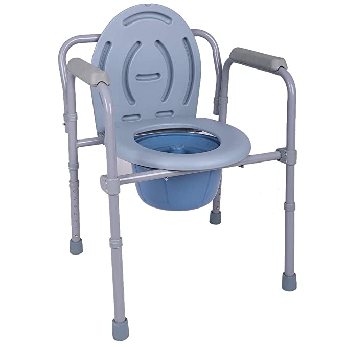 Toilet Seat For Elderly.Amazon Com Wkgre Medical Folding Commode Over Bedside