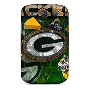 Samsung Galaxy S3 Vjh26601GaMx Support Personal Customs Realistic Green Bay Packers Image Bumper Hard Phone Covers -AlainTanielian