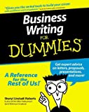 Business Writing for Dummies, Sheryl Lindsell-Roberts, 0764551345