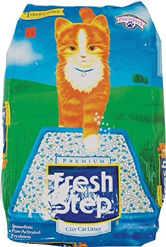 Non Clay Cat Litter (Fresh Step Extreme Clay, Non Clumping Cat Litter, Scented, 21 Pounds)