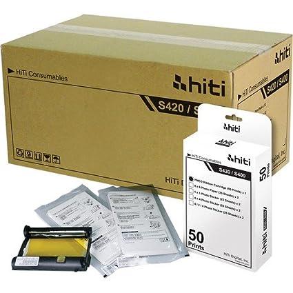 HiTi Digital Inc. Paquete de 50 impresiones de papel ...