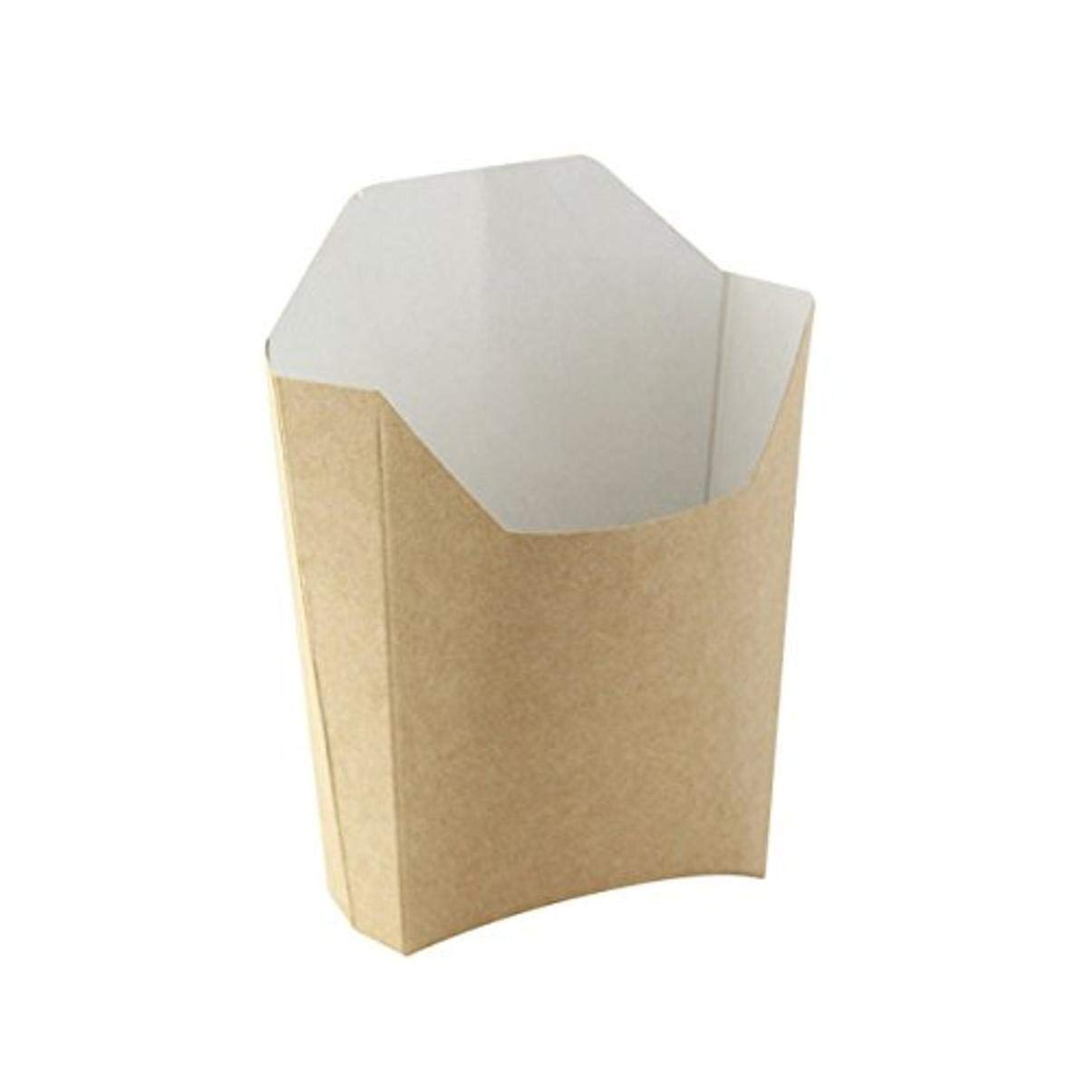 Large Kraft French Fry Pails (Case of 1000), PacknWood - Brown Kraft Paper Food Containers French Fry Holder (5.3