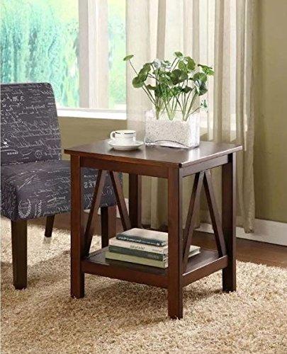 Admirable Amazon Com Square End Table With Storage Area Side Table Frankydiablos Diy Chair Ideas Frankydiabloscom