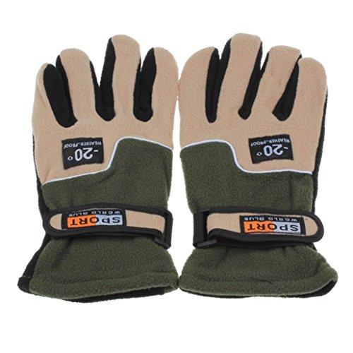 Franterd Mens Winter Windproof Motorcycle Ski Gloves (Green) by Franterd (Image #2)