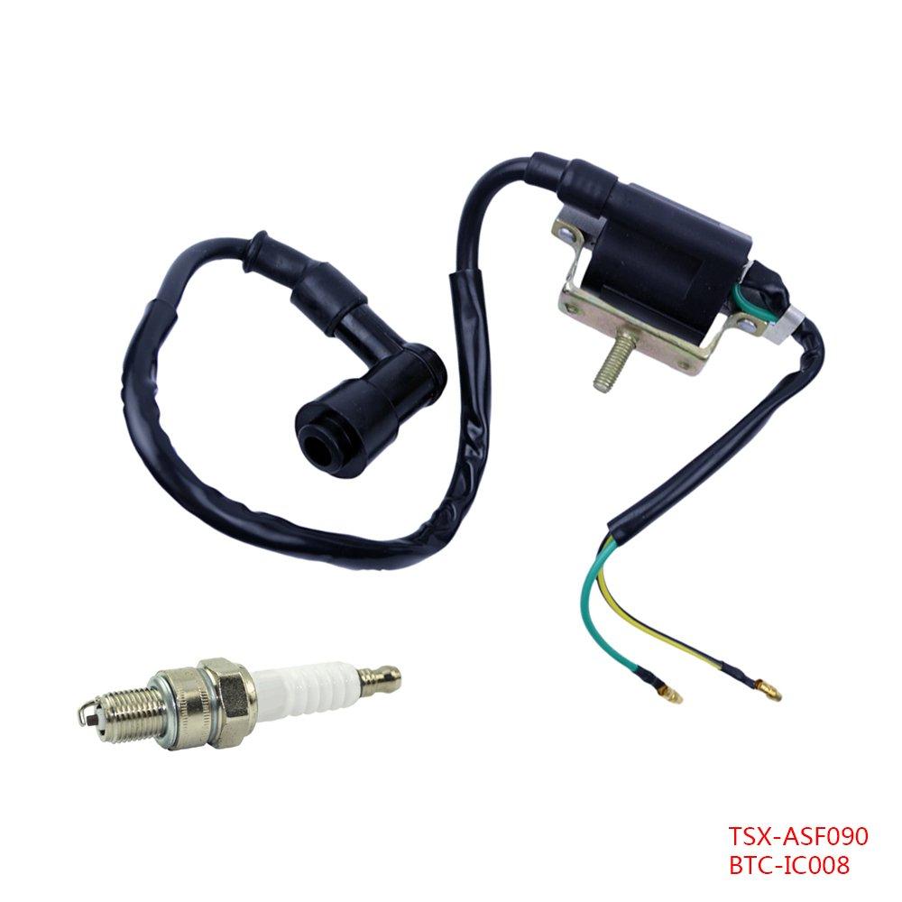Sensational Amazon Com Flypig 2 Wire Ignition Coil Spark Plug A7Tc For 4 Wiring 101 Mecadwellnesstrialsorg