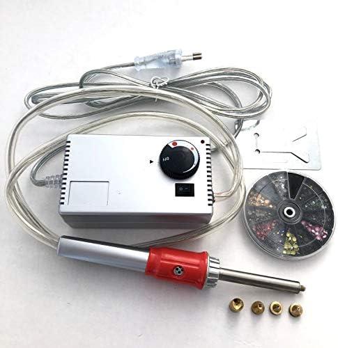 Hot Fix Applikator mit 4x Tipps Professionelles Aufb/ügeln Hot Fix Zauberstab Crystal Gem Strass W/ärmefixierwerkzeug EU Plug 220-240V