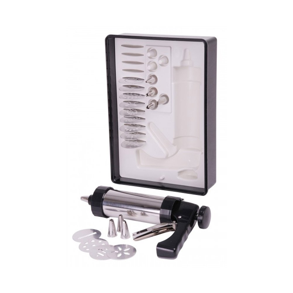 NUOLUX Stainless Steel Cream Chocolate Cake Cream Sugarcraft Pastry Icing Piping Syringe Gun Decorating Tool Set with Molds and Nozzles