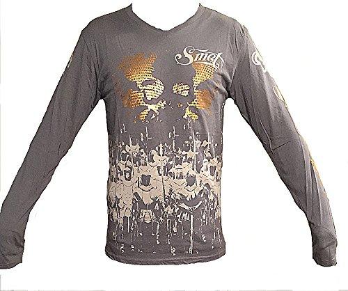 (Smet by Christian Audigier Battle For Mens T shirt (Large,)