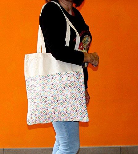 poche Tote ext Grande Bag Coton avec Cabas Rqfw6z6