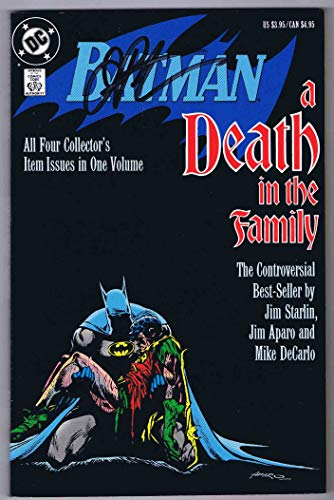 Signed Tpb - Batman A Death in the Family TPB 1st Print Signed w/COA Jim Starlin 1988 DC Comics