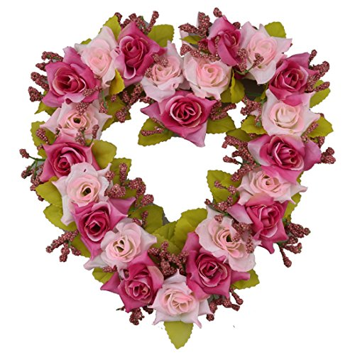 A-SZCXTOP Heart-shape Garland for Wedding Home Decoration Romantic Hanging Wreath for Valentine Garland Holiday Decoration for party Appr 8 Inch (Home Decorations Valentine)