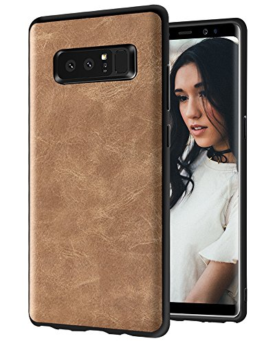 - Galaxy Note 8 Case, KAMII [Business Style] Ultra Slim Shockproof Raised Edge Protective PU Leather Case Cover for Samsung Galaxy Note 8 2017 (Golden)