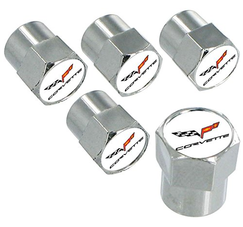 Chevrolet Chevy Corvette C6 Chrome Valve Cap (Corvette Valve Stem Caps)