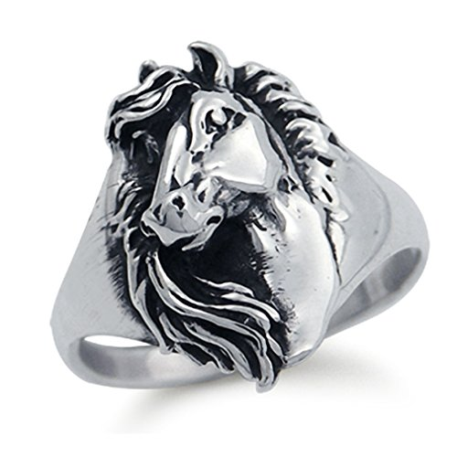 925 Sterling Silver Horse Ring Size 8.5