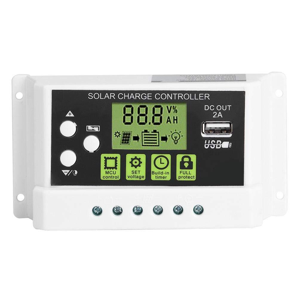 12V 24V PWM Intelligent Solar Charge Controller Regulator LCD Display USB Output 10/20/30A(KYZ-30A)