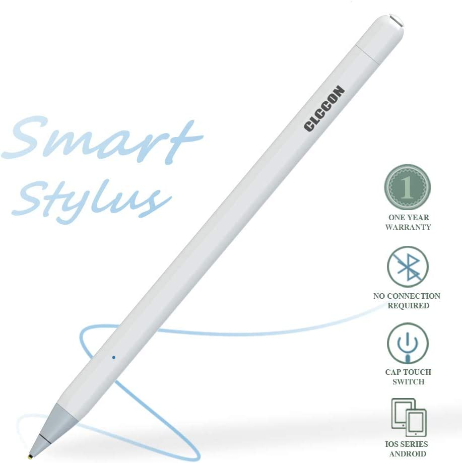 CLCCON Stylus Pen for Apple iPad & iPhone, Stylus Capacitive Rechargeable Pen for iPad Air 2,3 iPad Mini 3,4,5 iPad 3 iPad 2018,2019 iPad Pro1,Pro 2 and Later iPhone 6,7,8 and etc