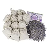 Lavande Sur Terre English Lavender Flower Craft Bag Kit of Made-by-You Handmade 12 Sachets in Muslin Bags, Drawer Freshener, Linen, Shower Favor, Wedding Gift, Closet, Laundry, Spa and More