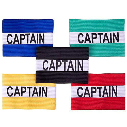 Crown Sporting Goods Captain Armband | Adult Team Sports Athletic Accessory | One-Size Elastic Player Band for College, Intramural, Recreational, Indoor & Outdoor, Soccer & Basketball from Crown Sporting Goods
