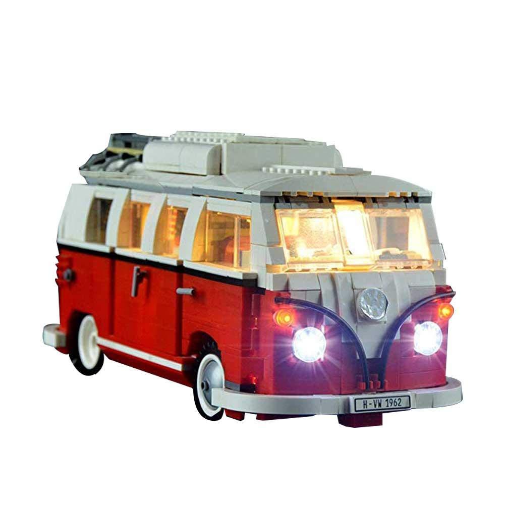miss-an Kit D/éclairage LED,/Éclairage /À LED Pi/èces D/éclairage pour Bricolage 21001 Compatibles avec Lego 10220 Volkswagen T1 Camper