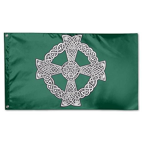 - MoningV Celtic Cross Knot Irish Decorative Flag House Flag Yard Banner 3' X 5'