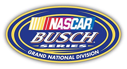 Busch Series Nascar Racing Car Bumper Sticker Decal 6'' x 3''