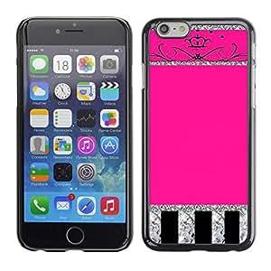 Paccase / SLIM PC / Aliminium Casa Carcasa Funda Case Cover - Glitter Crown Pink Silver Sparkling - Apple Iphone 6