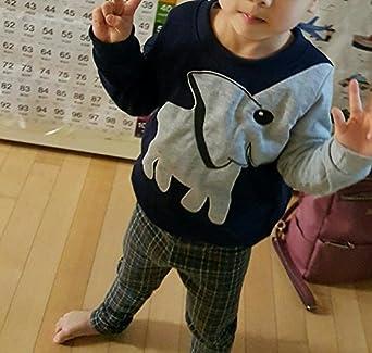 Jomago Boy Shirts Toddler Long Sleeve Top Kids Elephant Tee Toddler Sport Sweatshirt