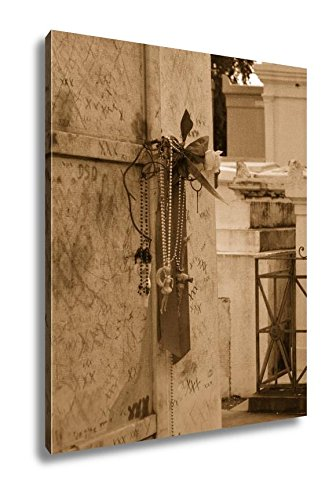 Ashley Canvas St Louis Catholic Cemetery New Orleans Louisiana USA, Wall Art Home Decor, Ready to Hang, Sepia, 20x16, AG6544567 ()
