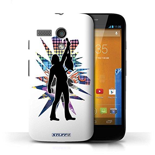 Etui / Coque pour Motorola MOTO G (2013) / Atteindre Blanc conception / Collection de Rock Star Pose