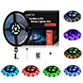 Led Strip Lights 5M/16.4 Ft SMD 3528 RGB 300 LEDs Color Changing Kit Waterproof, LED Ribbon for Home/Kitchen Lighting Strips Power Adapter Included