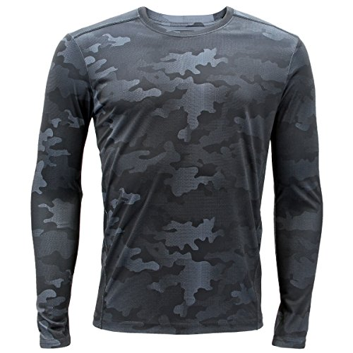 Camo Base (Adidas Mens Baselayer Climalite Long-Sleeve Crew with Upf, Black Data Camo Print, Medium)