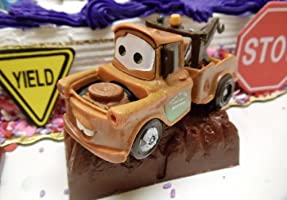 Superb Cars 14 Piece Birthday Cake Topper Set Featuring Tow Mater Sarge Funny Birthday Cards Online Benoljebrpdamsfinfo
