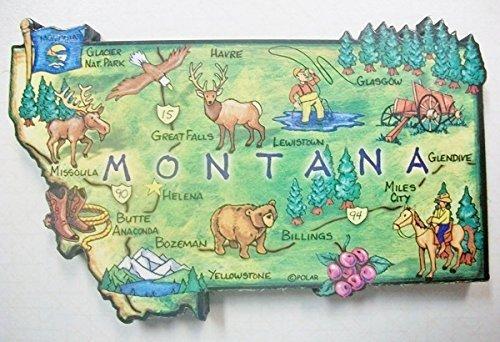 Montana the Treasure State Artwood Jumbo Fridge Magnet